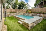 33+ Wonderful Small Backyard Ideas With Swimming Pool Design (35)