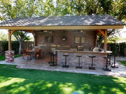 45+ Awesome Cooking With Amazing Outdoor Kitchen Ideas (24)