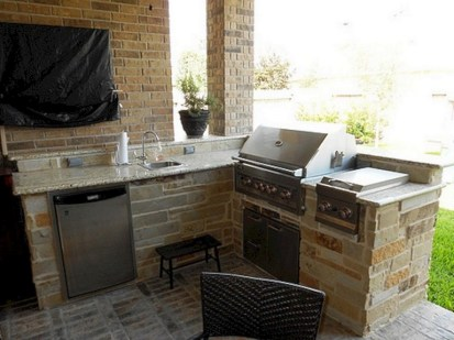 45+ Awesome Cooking With Amazing Outdoor Kitchen Ideas (29)