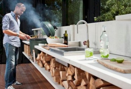 45+ Awesome Cooking With Amazing Outdoor Kitchen Ideas (32)