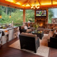 45+ Awesome Cooking With Amazing Outdoor Kitchen Ideas (42)