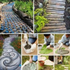 53+ Beautiful DIY Outdoor Garden Crafts Ideas to Make Your Garden More Beautiful (19)