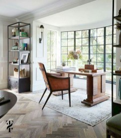 56+ Stunning Moody Mid Century Home Office Decor Ideas (11)