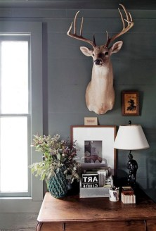 56+ Stunning Moody Mid Century Home Office Decor Ideas (15)