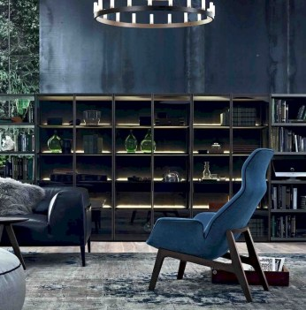 56+ Stunning Moody Mid Century Home Office Decor Ideas (30)