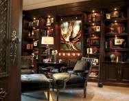 56+ Stunning Moody Mid Century Home Office Decor Ideas (35)