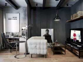 56+ Stunning Moody Mid Century Home Office Decor Ideas (45)