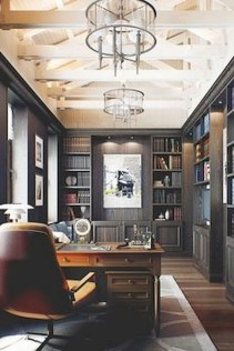 56+ Stunning Moody Mid Century Home Office Decor Ideas (57)