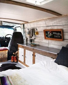 82+ Inspiring RV Camper Van Interior Design and Organization Ideas (46)