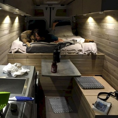 82+ Inspiring RV Camper Van Interior Design and Organization Ideas (63)