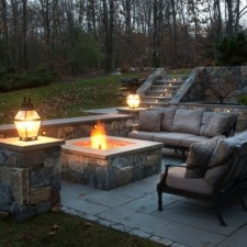 26+ Awesome DIY Fire Pit Plans Ideas With Lighting in Frontyard (19)