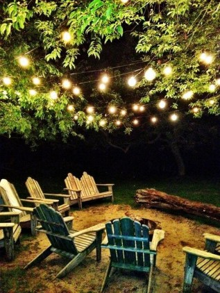 26+ Awesome DIY Fire Pit Plans Ideas With Lighting in Frontyard (24)