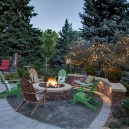 26+ Awesome DIY Fire Pit Plans Ideas With Lighting in Frontyard (7)