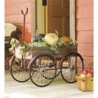 28+ Inspiring to Decorate Garden Carts for Fall (10)