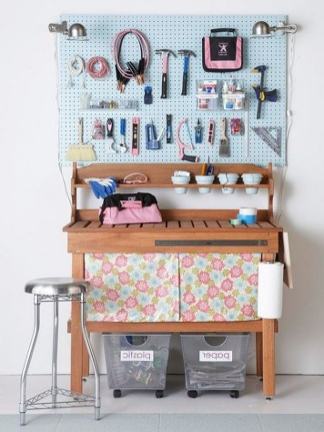 40+ Brilliant Ways To Organize Your Home With Pegboards (19)