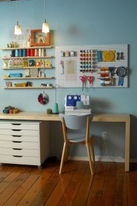 40+ Brilliant Ways To Organize Your Home With Pegboards (37)