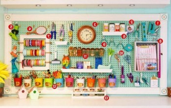 40+ Brilliant Ways To Organize Your Home With Pegboards (38)
