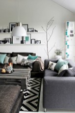 93+ Comfy Apartment Living Room in Black and White Style Ideas (20)
