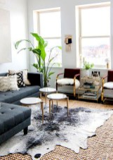 93+ Comfy Apartment Living Room in Black and White Style Ideas (24)