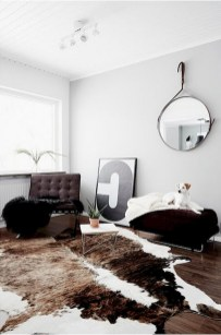 93+ Comfy Apartment Living Room in Black and White Style Ideas (28)