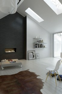 93+ Comfy Apartment Living Room in Black and White Style Ideas (29)