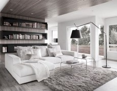93+ Comfy Apartment Living Room in Black and White Style Ideas (70)