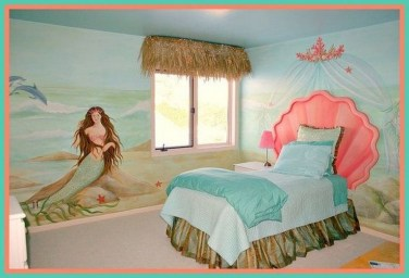 36+ Sweet Mermaid Themes Bedroom Ideas For Your Children (17)