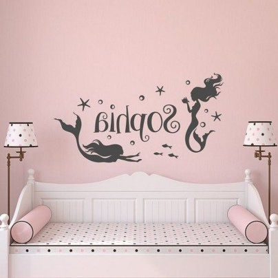36+ Sweet Mermaid Themes Bedroom Ideas For Your Children (27)