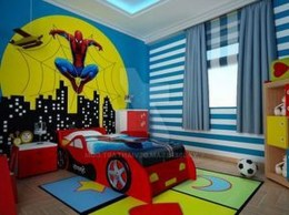 44+ Cool Superhero Theme Ideas For Boy's Bedroom (15)