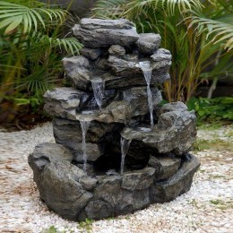 46+ Beauty Outdoor Water Fountains Ideas Best For Garden Landscaping (30)
