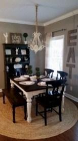75+ Stuning Farmhouse Dining Room Decor Ideas 23