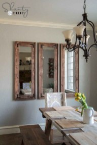 75+ Stuning Farmhouse Dining Room Decor Ideas 40