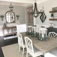 75+ Stuning Farmhouse Dining Room Decor Ideas 67