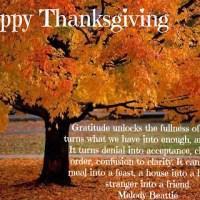 A Thankful Thanksgiving