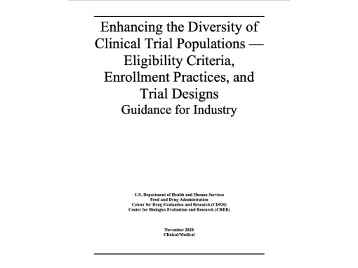 FDA Guidance - Diversity in Clinical Trials