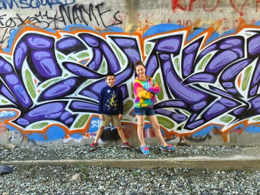 Bourn Kids In Donner Pass Train Tunnels With Graffiti