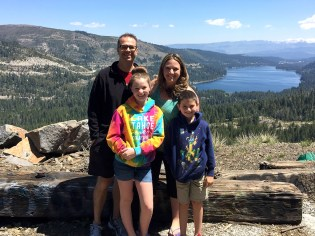 Bourn Family Hiking Donner Summit