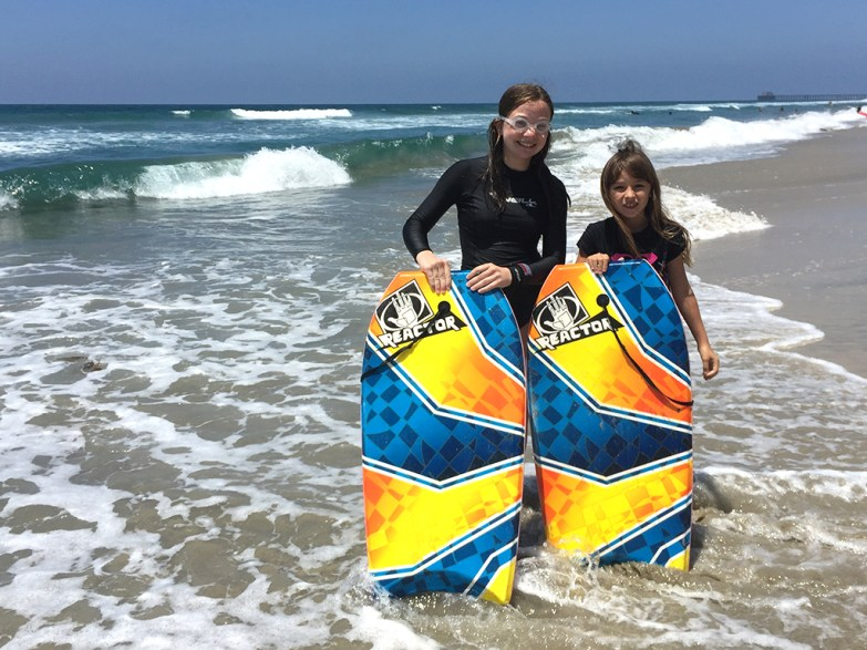 Boogie Boarding With Friends
