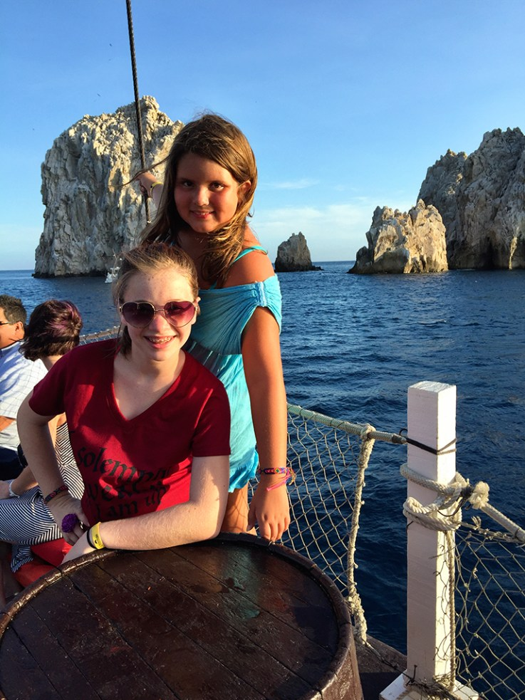 Emily and Natalie aboard the Cabo Legend Pirate Dinner Cruise