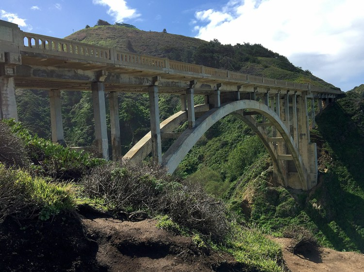 Rocky Creek Bridge Open-Spandrel Arch Bridge on Highway 1