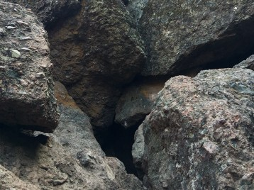 Through The Black Hole Is Balconies Cave Under Talus Boulders
