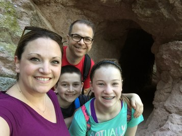 Bourn Family Selfie On Bear Gulch Trail
