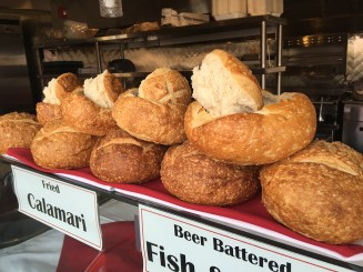 Fresh Fish, Bread, Foods at Fishermans Wharf in Monterey