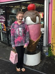 Ice cream and candy stores at Old Fishermans Wharf In Monterey California
