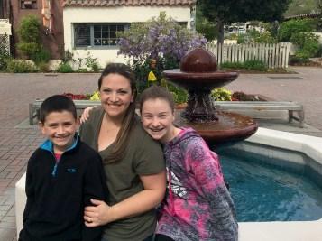 Jennifer Bourn and Kids in Monterey Gardens