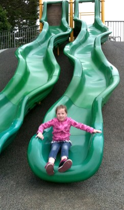 Big Curvy Slides At Playground In Monterey With Restrooms