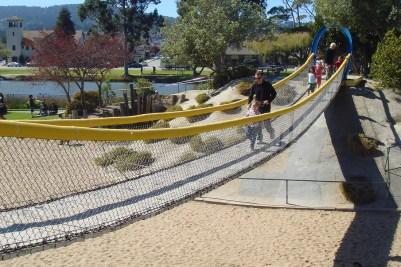 Suspension Bridge Playground at Monterey California