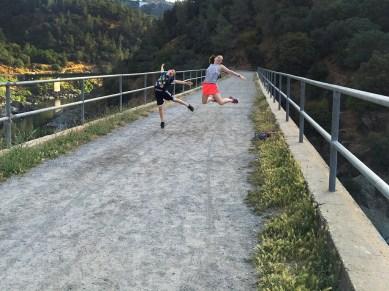 Crossing The Mountain Quarries Railroad Bridge
