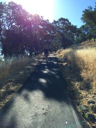 Hiking Up the Steep Foothills Trail in Whitney Oaks