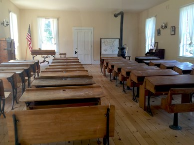 Inside the Historic Brick School House In Columbia California